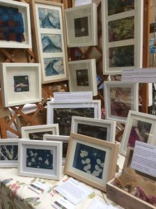 Framed pictures on my stall in July 2016